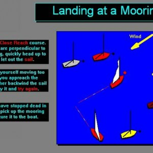 How to land a sailboat at a mooring
