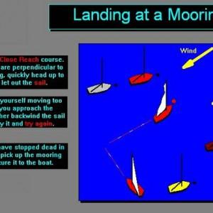 How to land a sailboat at a mooring