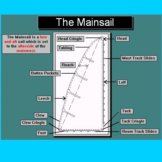 Parts of a Mainsail