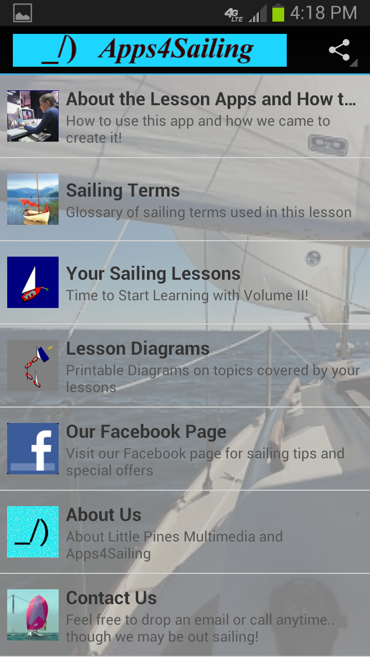 Learn to Sail Volume 2