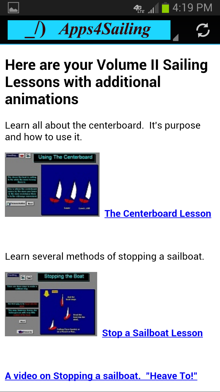 Lessons Link Page