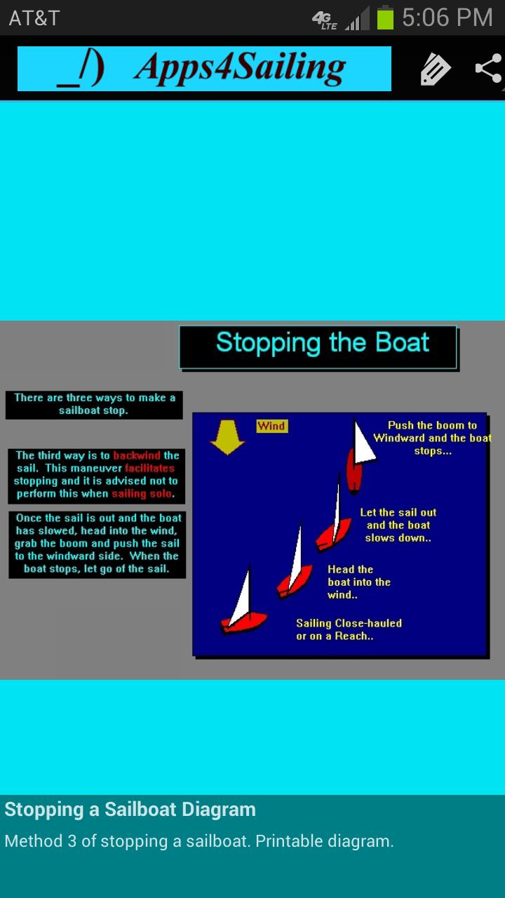 Stop a Sailboat