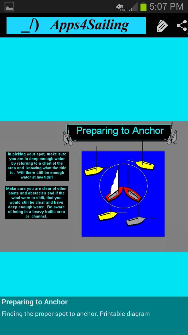 Prepare to Anchor